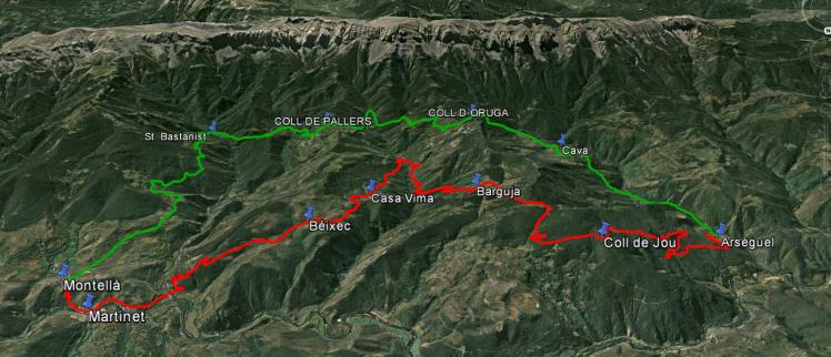 Vista aèria de la Marxa a cavall pels boscos del Baridà sud
